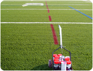 Aerosol Chalk for Striping of Football, Soccer, Lacrosse Lines on SyntheticTurf Fields