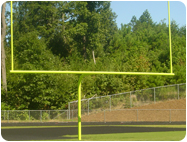Goal Post Neon Yellow paint new football goals