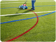 Temporary removable chalk Synthetic Field Turf