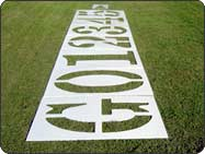 football field number stencil yardage kit