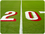 Line marking striping paints football field numbers